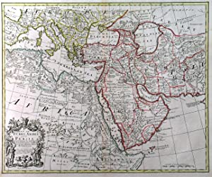 A MAP OF TURKY, ARABIA AND PERSIA CORRECTED FROM THE LATEST TRAVELS. . Map of Arabia, Persia, Tur...