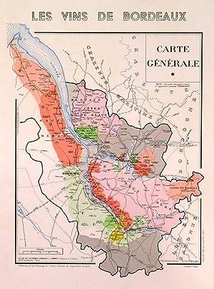 LES VINS DE BORDEAUX - CARTE GENERALE'.: Larmat, L.