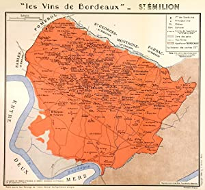 LES VINS DE BORDEAUX - SAINT-EMILION'. Decorative: Larmat, L.