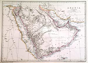 ARABIA . Large detailed map of Arabia.