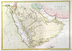 ARABIA . Large detailed map of Arabia, the Red Sea and the Persian Gulf. Published by Cassell, Pe...