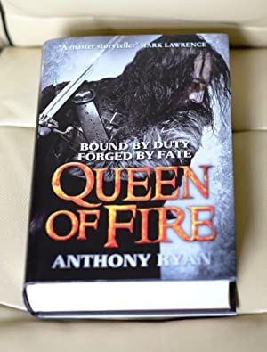 Queen of Fire: Book 3 of Raven's Shadow Trilogy- Signed Lined and Dated UK HB