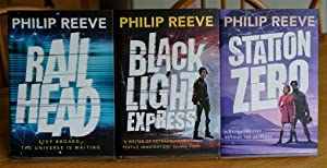 Railhead, Blacklight Express, Station Zero (Railhead Trilogy) Signed Lined and Dated