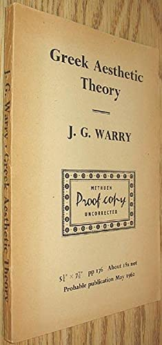 Greek Aesthetic Theory : a Study of: Warry, J. G.