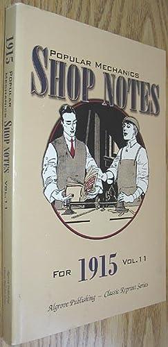 Popular Mechanics Shop Notes for 1915 Vol.: Windsor, H. H.