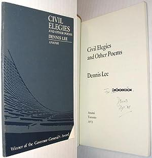 Civil Elegies and Other Poems SIGNED: Lee, Dennis