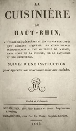La Cuisinière du Haut-Rhin: SPOERLIN (Marguerite)]