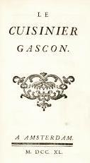 Le Cuisinier gascon: BOURBON (Louis-Auguste de)]