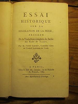 Essai historique sur la Législation de la: Gaudin ( Jacques-