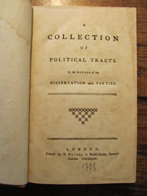 Bolingbroke a dissertation upon parties 1733