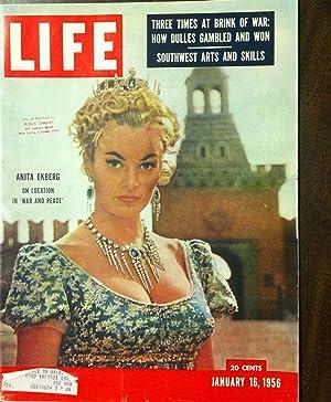 Original Life Magazine January 16, 1956 Vol. 40, No. 3 Anita Ekberg on location in War and Peace; ...