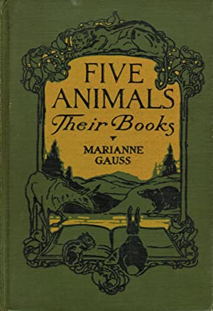 Five animals, their books,