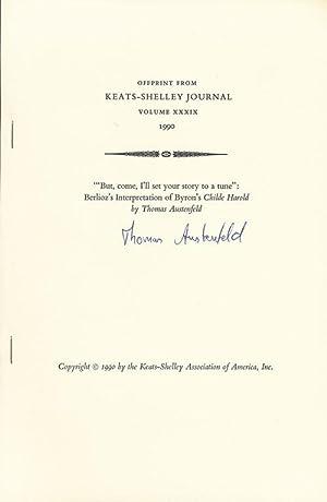 Offprint from Keats-Shelley Journal Volume XXXIX 1990: Austenfeld, Thomas