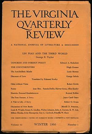 The Virginia Quarterly Review, Winter 1966 Volume: Oates, Joyce; Hugh