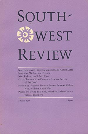 Southwest Review Spring 1986, Volume 71, Number: Lurie, Alison; Ridland,