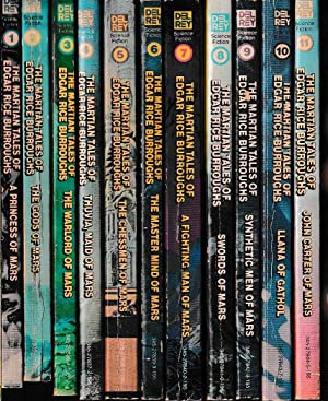 THE MARTIAN TALES OF EDGAR RICE BURROUGHS. Full matching set of eleven titles