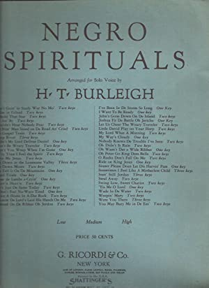 Negro Spirituals Oh, Didn't it Rain (sheet music)
