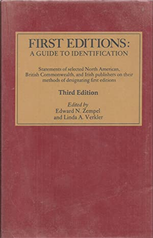 First Editions: A Guide to Identification Third: Zempel, Edward N.