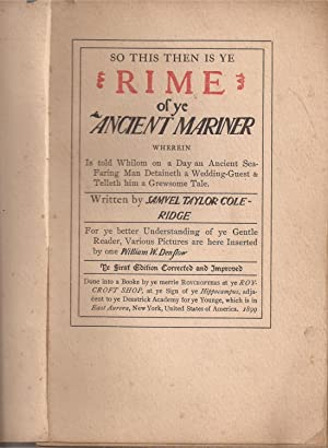 The Rime of the Ancient Mariner (signed by Hubbard)