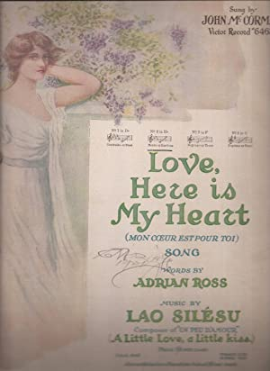 Love, Here is My Heart (Mon Coeur Est Pour Toi) (sheet music)