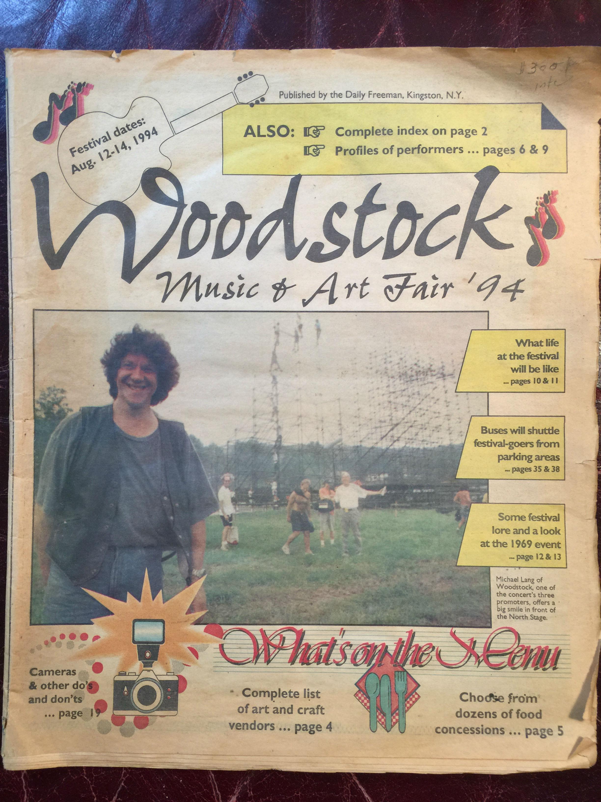WOODSTOCK MUSIC AND ART FAIR 94 WOODSTOCK II