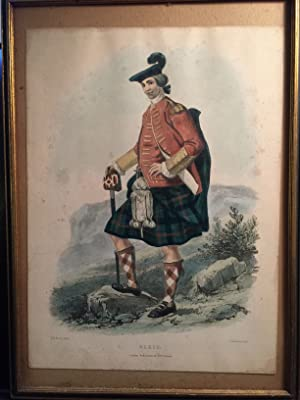 L. Dickinson Hand Colored Lithograph