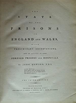 The State of the Prisons in England: HOWARD, John: