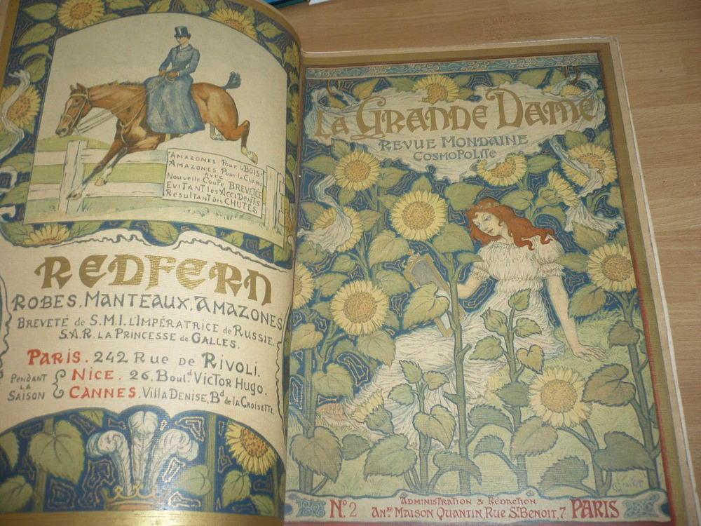 REVUE ART NOUVEAU 1891 NOMBREUSES COUVERTURES LITHO ART NOUVEAU la grande dame Softcover REVUE ART NOUVEAU 1891 NOMBREUSES COUVERTURES LITHO ART NOUVEAU la grande dame