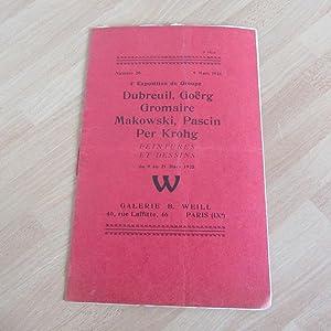 plaquette 1925 3ème exposition du groupe dubreuil