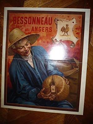 GRANDE AFFICHE ANCIENNE AGRICULTURE bessonneau angers 1905 AGRICOLE tessier