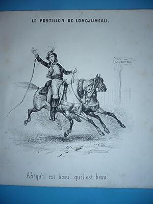 GRAVURE 1841 LE POSTILLON DE LONGJUMEAU