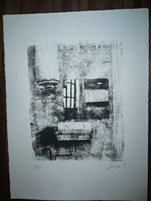 LITHOGRAPHIE ORIGINALE SIGNEE AU CRAYON Jacques BUSSE (1922-2004) NUMEROTEE 2/10