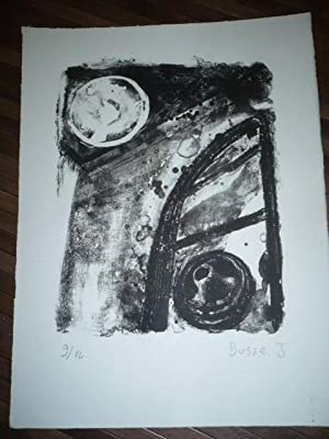 LITHOGRAPHIE ORIGINALE SIGNEE AU CRAYON Jacques BUSSE (1922-2004) NUMEROTEE 9/12