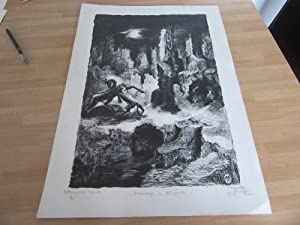 LITHOGRAPHIE NUMEROTEE SIGNEE Marcelle KUNTZ (1910) HOMMAGE A LEOPARDI
