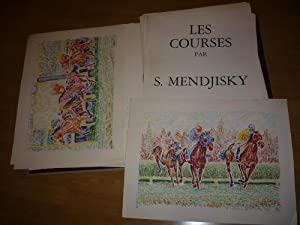 MENDJISKY LES COURSES 12 LITHOGRAPHIES SIGNEES ET NUMEROTEES