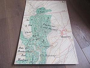 GRAND PLAN MANUSCRIT 1890 MAMEY MEURTHE ET