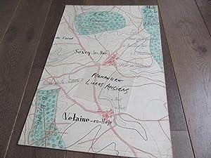 GRAND PLAN MANUSCRIT 1890 SEXEY LES BOIS