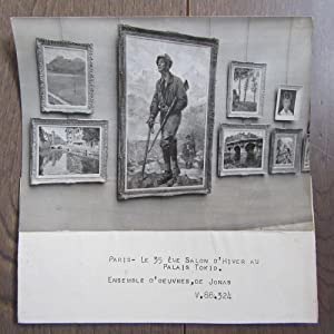 PHOTO DE PRESSE 1943 OEUVRES LUCIEN JONAS