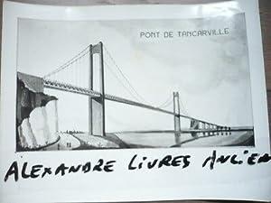 PHOTOGRAPHIE ORIGINALE 1950 PROJET PLAN PONT DE