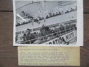 PHOTO DE PRESSE 1955 SOLDATS DE NOUVEAU