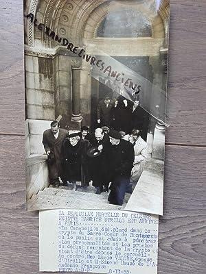 PHOTO DE PRESSE 1955 PARIS DÉCÈS DE