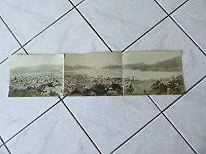 GRANDE PHOTO 1890 PANORAMA DE NAGASAKI HARBOURG