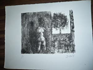 LITHOGRAPHIE ORIGINALE SIGNEE AU CRAYON Jacques BUSSE (1922-2004) NUMEROTEE 5/15