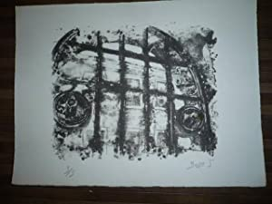LITHOGRAPHIE ORIGINALE SIGNEE AU CRAYON Jacques BUSSE (1922-2004) NUMEROTEE 3/5
