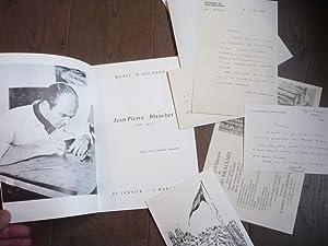 JEAN-PIERRE BLANCHET (1929-1972) PLAQUETTE BIBLIO + 5