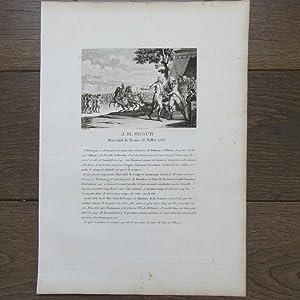 GRAVURE1830 J.H. SEGUR MARÉCHAL DE FRANCE 15