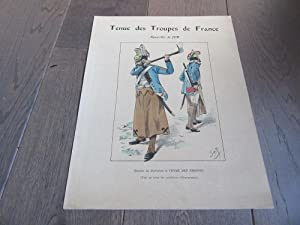 AFFICHE ILLUSTREE PAR JOB 1900 TENUE DES TROUPES DE FRANCE