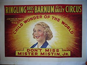 AFFICHE CIRQUE 1920 RINGLING BROS AND BARNUM BAILEY CIRCUS