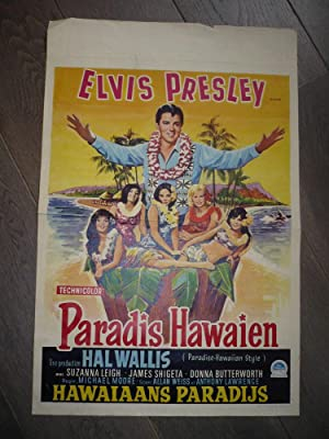AFFICHE CINEMA 1966 ELVIS PRELEY PARADIS HAWAIEN ORIGINALE !