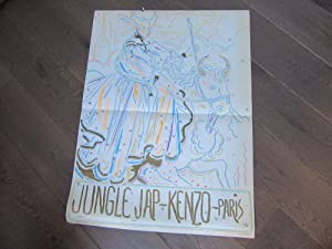AFFICHE LITHOGRAPHIEE JUNGLE JAP-KENZO PARIS PAR HARVEY BOYD 1978